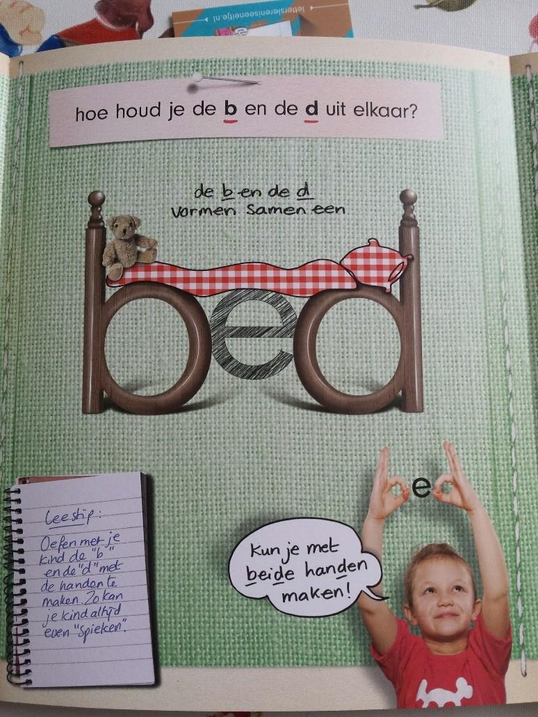 letters leren is een eitje met de b en d