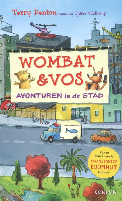 wombat en vos avonturen in de stad