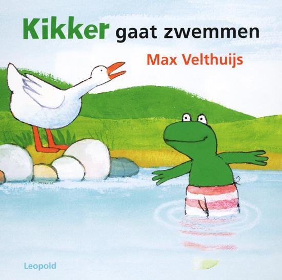 kikker gaat zwemmen