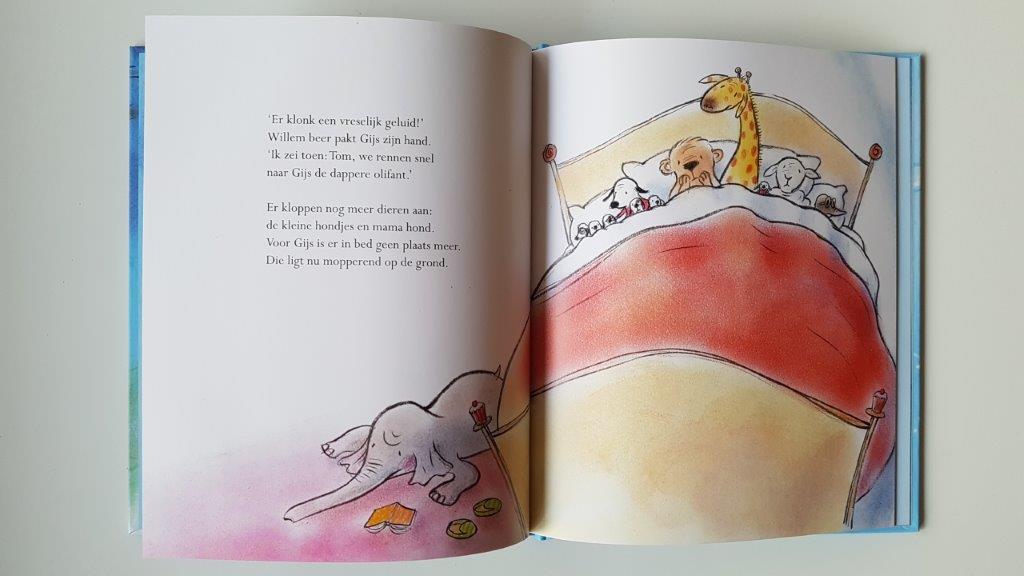 alle dieren in bed