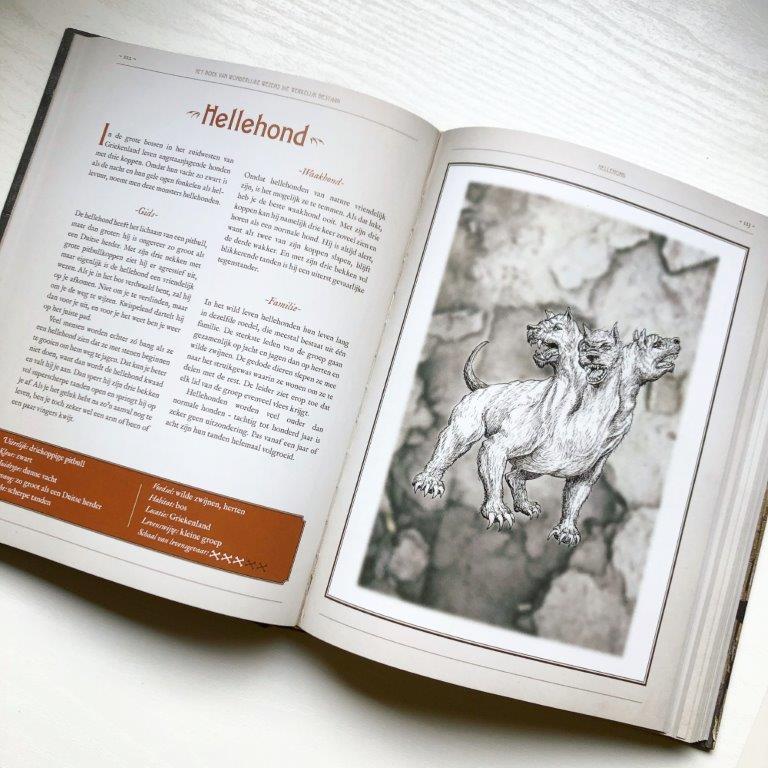 Het boek van wonderlijke wezens die werkelijk bestaan, Tjerk Noordraven. Madeleine Kuijper Hellehond
