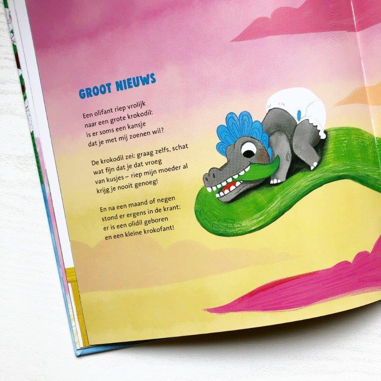 de versjesboom Marianne Busser & Ron Schröder Over Amstel uitgevers Charlotte Bruijn baby olifant op blad