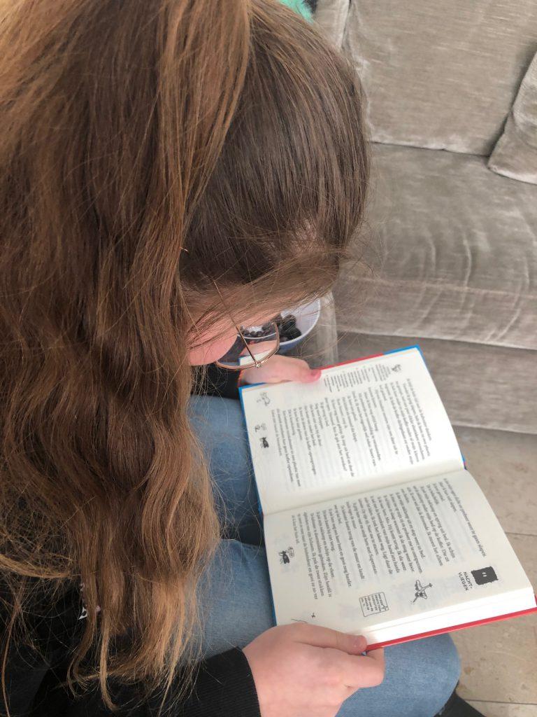 meisje leest boek van terry denton