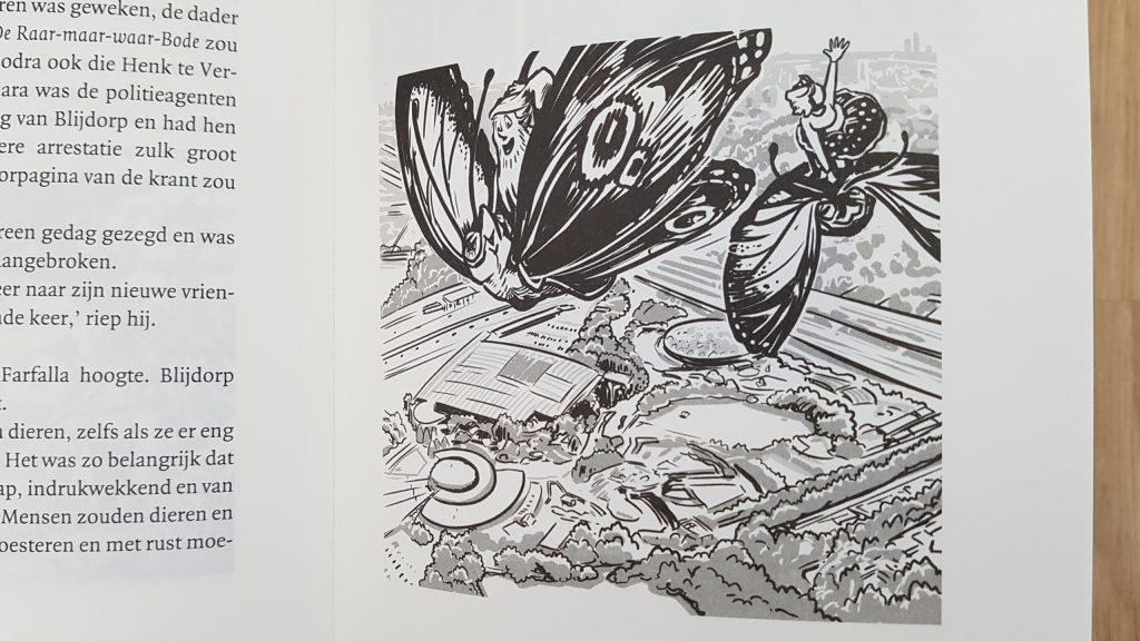 vlinder met pinkeltje