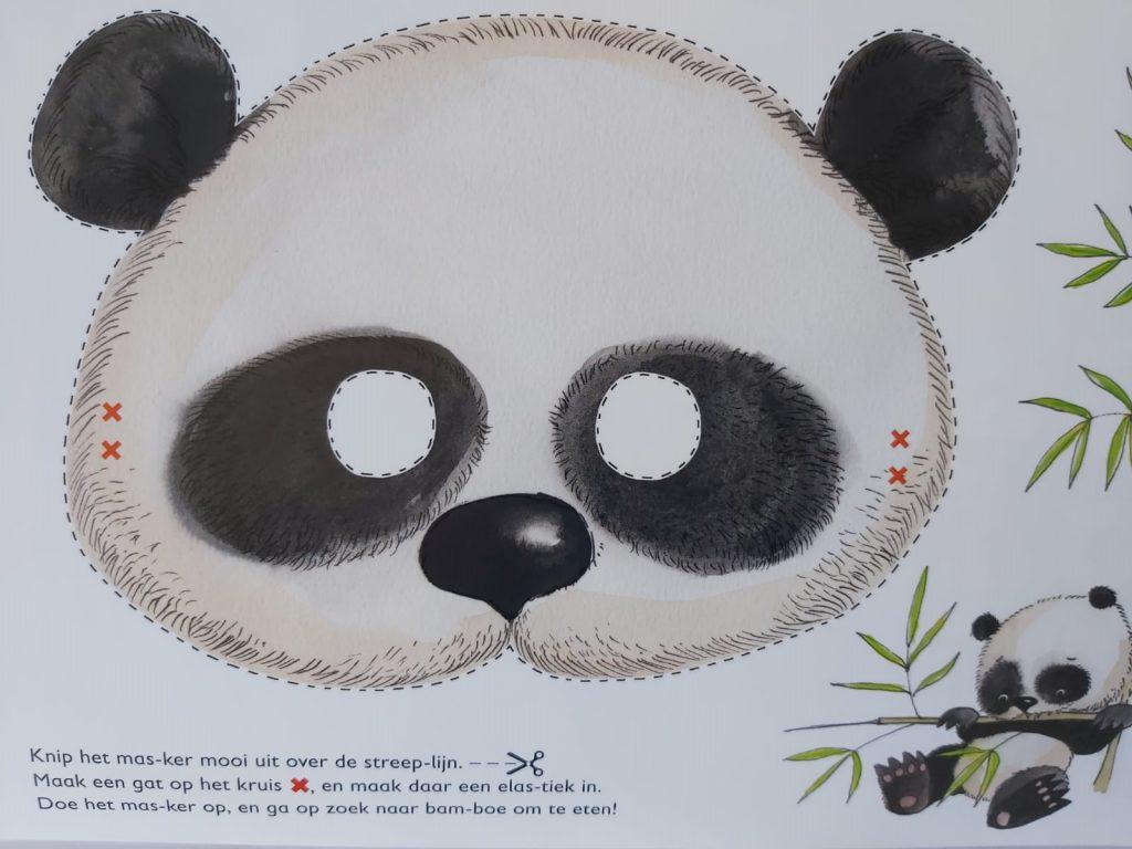 panda masker uit het grote AVI doeboek