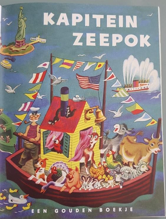 Kapitein zeepok gouden boekje over de zee