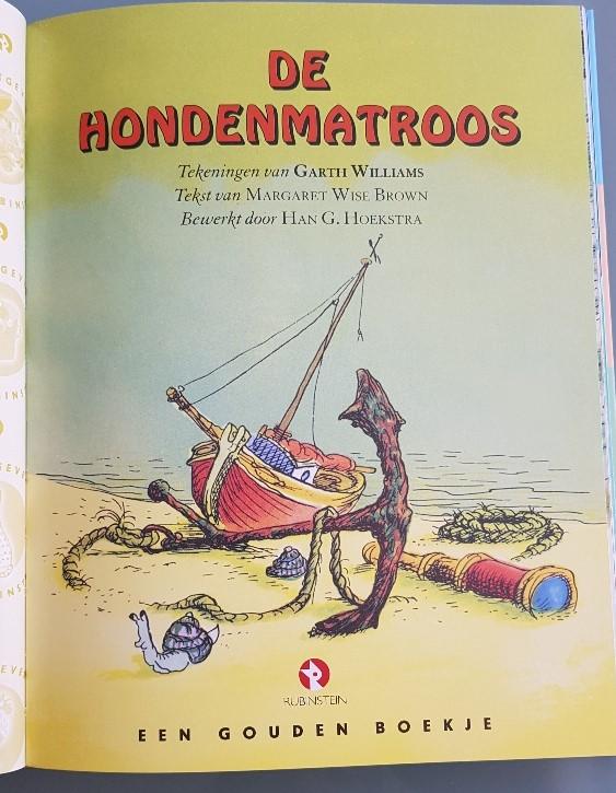 De hondenmatroos gouden boekje over de zee