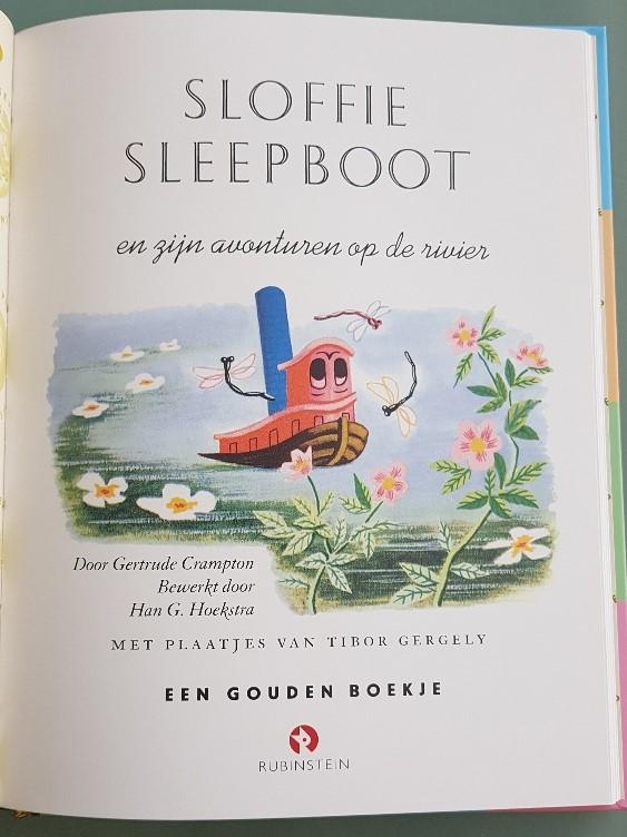 Sloffie sleepboot gouden boekje over de zee