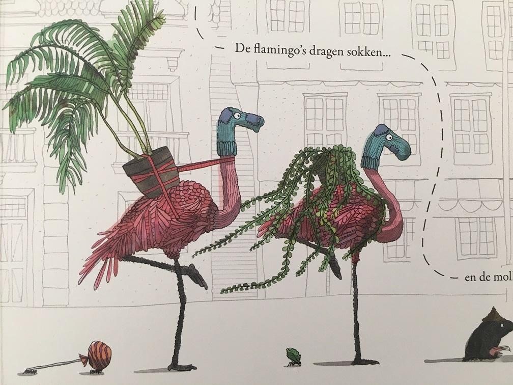 flamingo's verhuizen