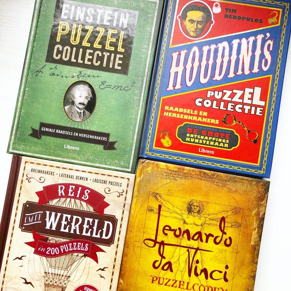 Vier puzzel- en raadselboeken die je wilt hebben