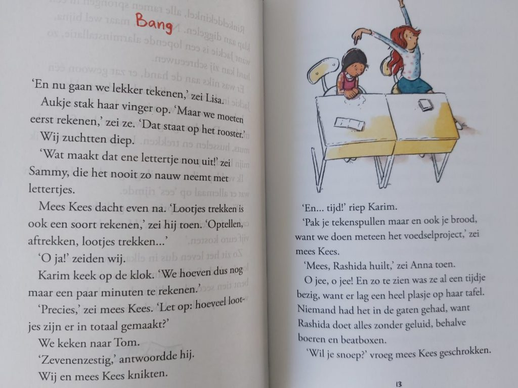 voorleesboek in de klas