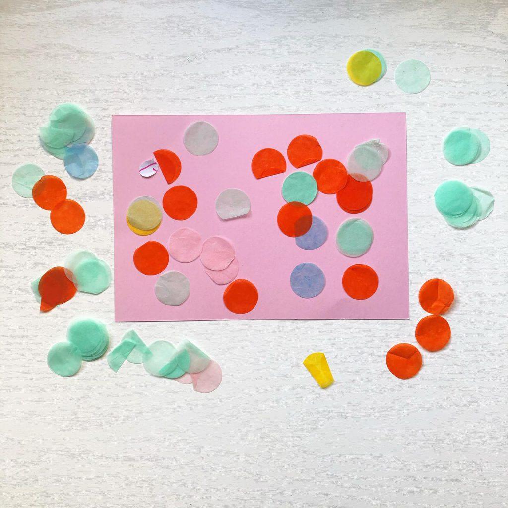knutselen met confetti