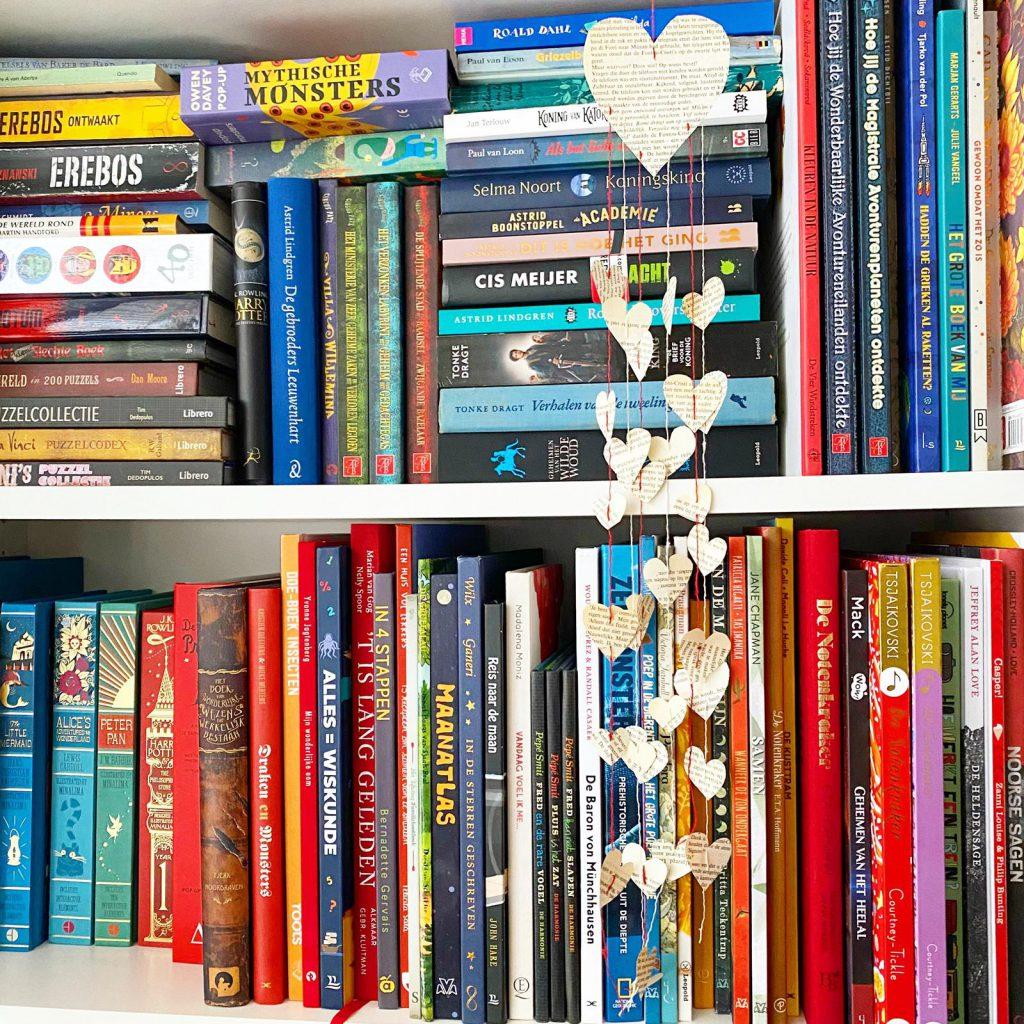 creatief met oude boeken valentijn