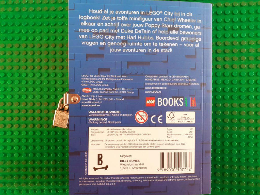 Lego City waanzinnig logboek achterkant