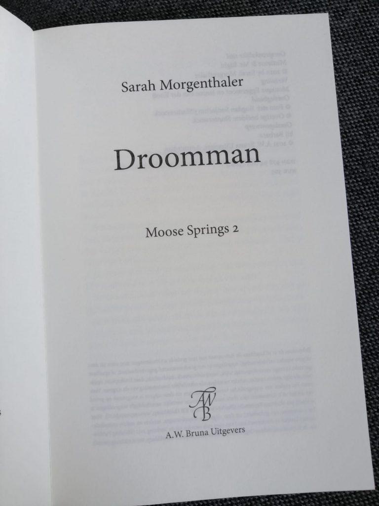 Drooman; zwijmelboek titelpagina