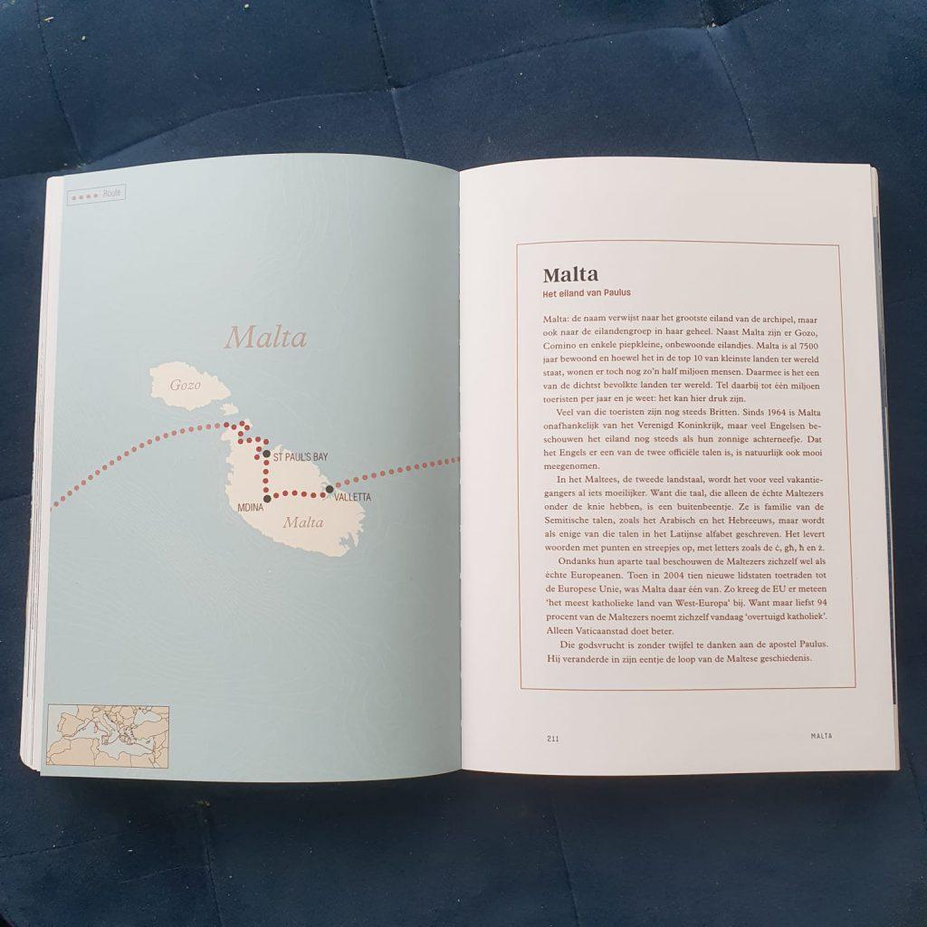 Dwars door de middellandse zee kadertje kaart