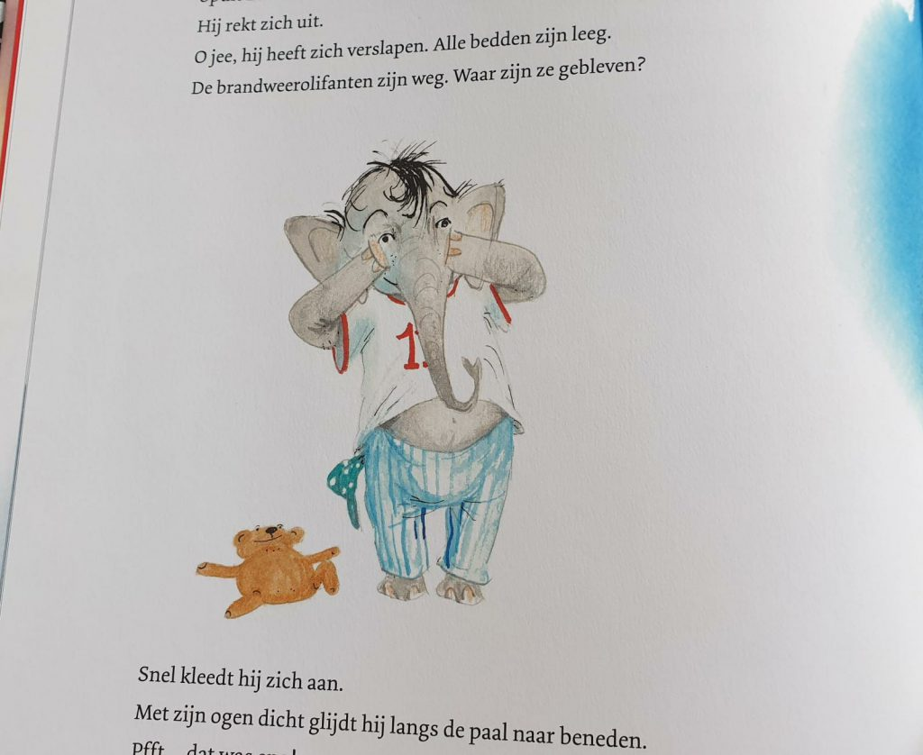 spuit elf wordt brandweerolifant